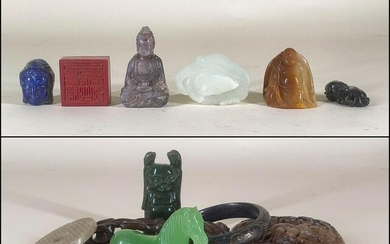 Assorted Group of Chinese Hardstone Articles