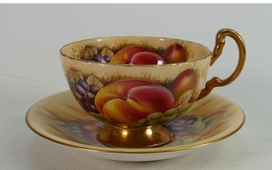 Aynsley Orchard Gold patterned cups saucers and side plates:...