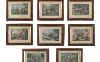 BARTOLOMEO PINELLI Group of eight engravings depicting