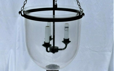"""Bell Jar , Clear glass , 12 """" Dia . The whole set ."""