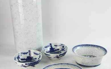 Chinese Reticulated Basket, Tray, Bowl, Stand