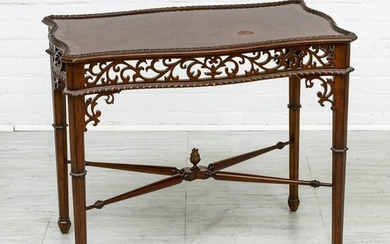ETHAN ALLEN CHIPPENDALE STYLE MAHOGANY TABLE