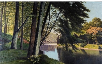 Fritz Chwala (Austria 1872 ? 1936): REFLECTIONS IN A FOREST