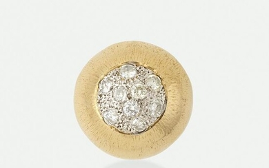 Gold and diamond ball ring