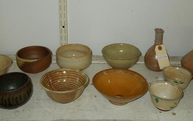 Group of Ceramic Bowls and 2 Vases.