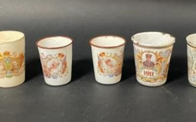 Grouping of 7 Commemorative Cups