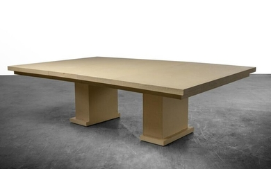 Karl Springer Style - Linen Wrapped Dining Table
