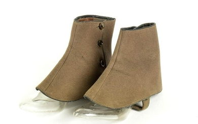 LEATHER SPATS Early 20th century