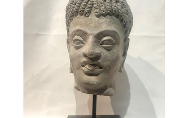 Large Greek Stucco Head approx 35cm tall with base