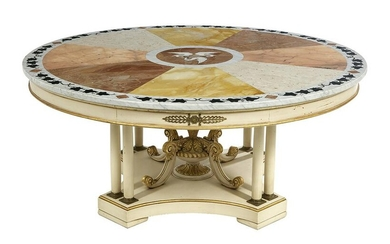 Large Italian Marble-Top Table