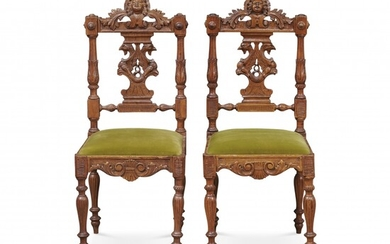 Pair of chairs 19th-20th Century