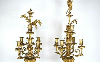Pair 19th C. French Candelabra
