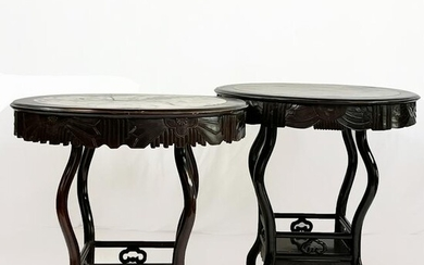 Pair Chinese Hardwood Tables
