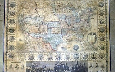 Phelps' New 1859 National Map of the United States.