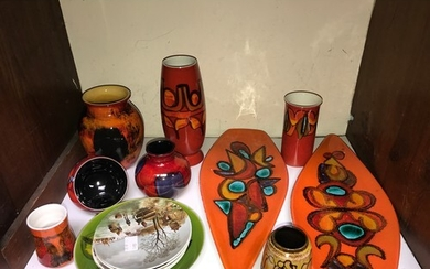 SECTION 4. A mixed collection of Poole Pottery including two...