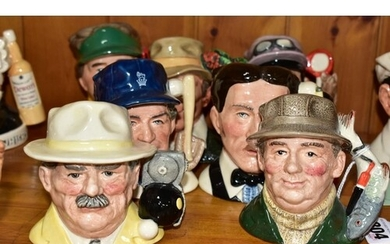 SEVEN ROYAL DOULTON CHARACTER JUGS FROM CHARACTERS OF LIFE S...