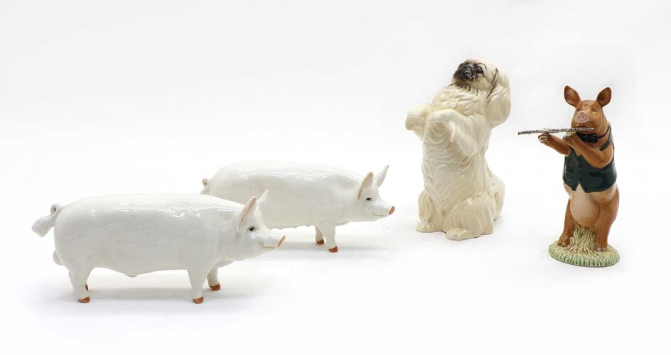 Two Beswick sows