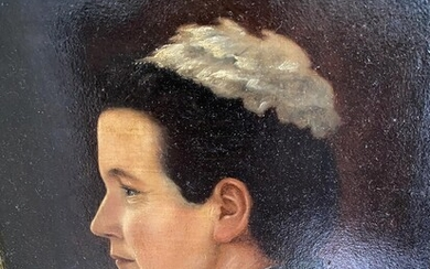 NOT SOLD. Unknown painter, early 20th century: Portrait of a woman. Usigned. Oil on board. 37 x 32 cm. – Bruun Rasmussen Auctioneers of Fine Art