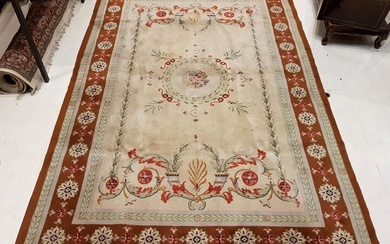 Vietnamese RUG from the Hang-Kenh factory, hand-knotted, with neo-classical decoration,...