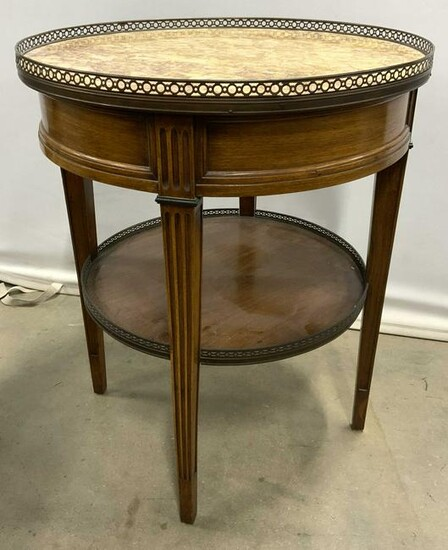 Vintage Marble Topped Side Table