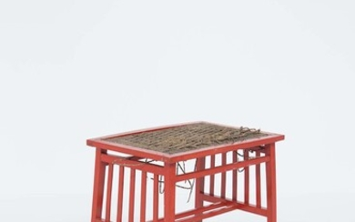 Wooden coffee table in Ettore Sottsass style