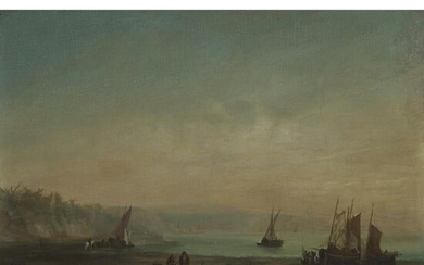 19th century, British or Canadian, FISHING BOATS LOW