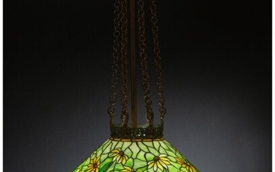 79040: Tiffany Studios Leaded Glass and Patinated Bronz
