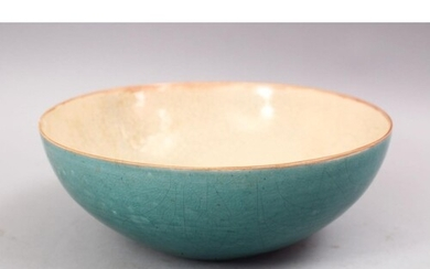 A CHINESE SONG STYLE CELADON CRACLE GLAZED POTTERY BOWL, the...