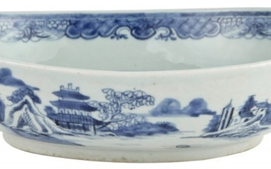 A Chinese Blue and White Porcelain Serving Dish