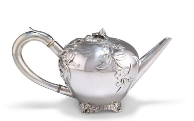 A GEORGE IV CHINOISERIE SILVER TEAPOT, by William