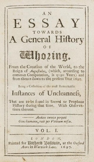 An Essay towards a general history of whoring