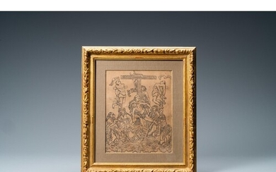 An anonymous woodcut depicting the descent from the cross, 1...