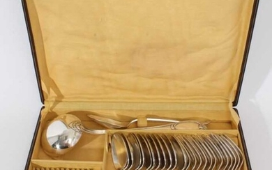 Canteen of continental silver plated cutlery