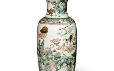 Chinese Famille Rose Vase with Figures, Late 19th