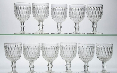 EARLY THUMBPRINT / ARGUS (OMN) SMALL GOBLETS, LOT OF 11