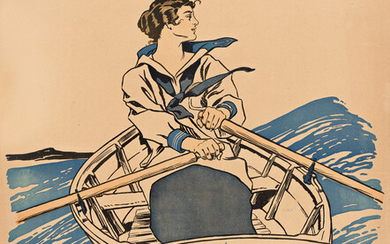 EDWARD PENFIELD (1866 1925) EVERY GIRL PULLING FOR VICTORY