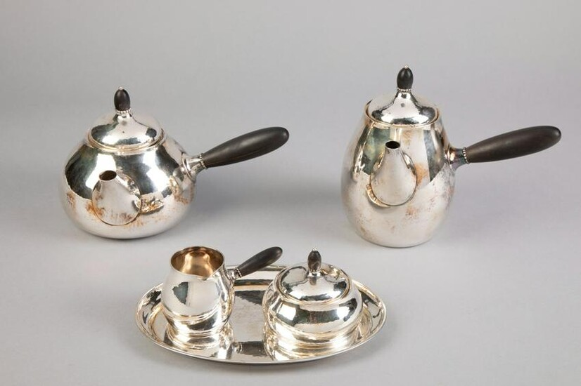 Georg Jensen, Sterling Silver Tea and Coffee Service