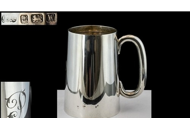George V Sterling Silver Tankard of Plain Form with Capitol ...