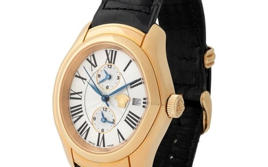 Gianni Versace. Limited Editions Master Banker Automatic Wristwatch in Pink Gold, Reference 4199/11, Made by Franck Muller With Box