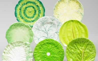 Group of Continental Ceramic Lettuce Wares, Most
