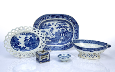 Group of Staffordshire and other transfer-printed ceramics