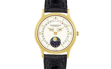 JAEGER-LECOULTRE, GOLD TRIPLE CALENDAR AND MOON PHASES