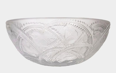 Lalique Frosted Glass Pinsons Bowl