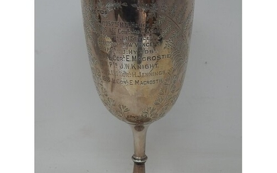 """Large Silver Rifle Trophy Cup """"The East Surrey Regiment"""". Gi..."""