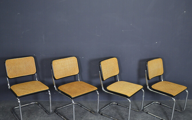 MARCEL BREUER. 4 CANTILEVER CHAIRS S32 FOR THONET.