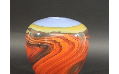 PETER LAYTON - CONTEMPORARY GLASS VASE - MIRAGE the vase wit...