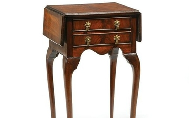 Queen Ann-Style Mahogany Drop-Leaf Table