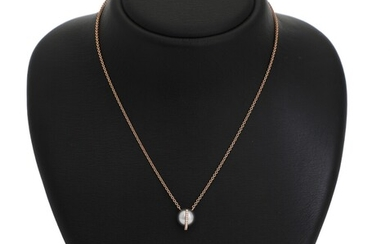 NOT SOLD. Ruben Svart: A pearl and diamond necklace set with a cultured South Sea...