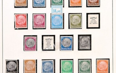 Stamps, 3. Empire, 1933-45, mint never hinged superb...