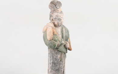 TOMBET figure in terracotta, Ming Dynasty, (1368-1644), China.